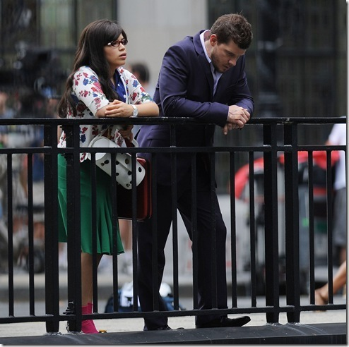 on set of ugly betty- aug 20/09