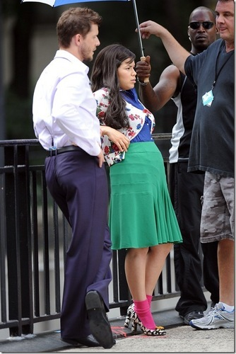 on set of ugly betty- aug 20 /09