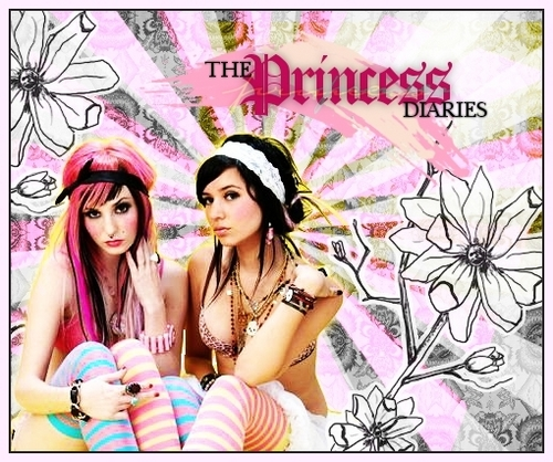 design wallpaper probably with a bikini, a portrait, and animê called princess diaries