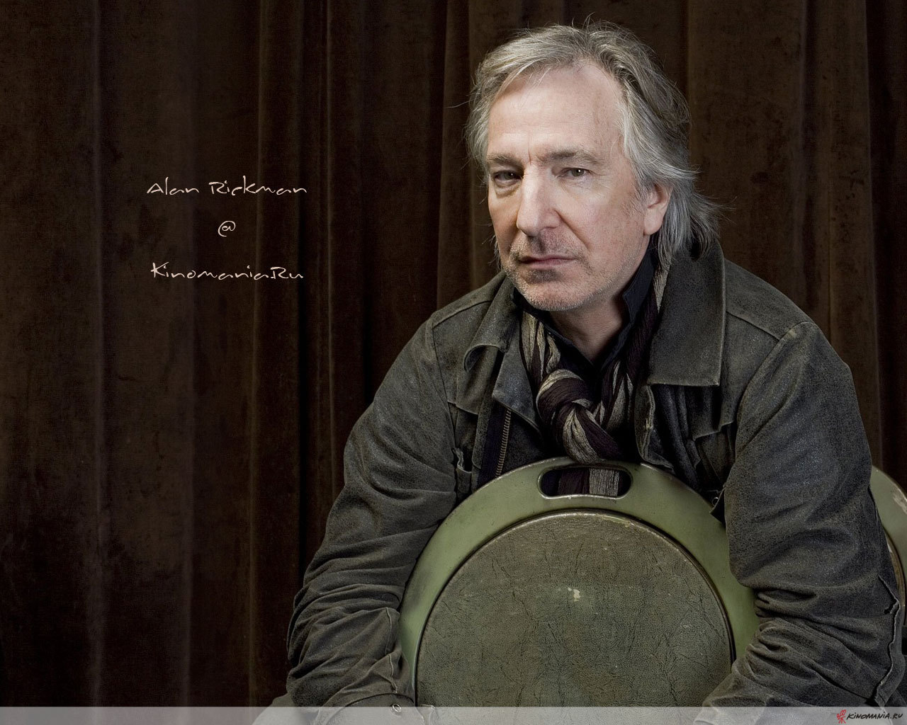 WALLPAPER: Alan Rickman Acting Quote With Photo