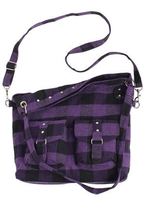 Alanna Buff-Check Messenger Bag
