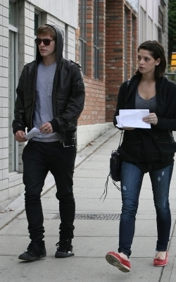Ashley heading to rehearsales with Xavier-August 25