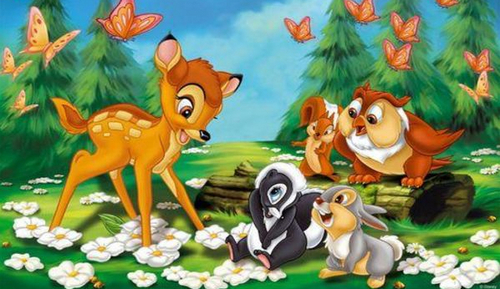 Disney karatasi la kupamba ukuta possibly containing anime entitled Bambi