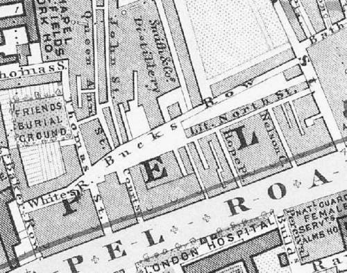 Buck's Row Map, 1862