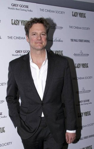 Colin Firth at NYC Easy Virtue Screening