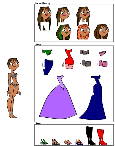 Total Drama Island Hintergrund titled Courtney Dress Up (Original Idea from xxXsk8rtXxx)