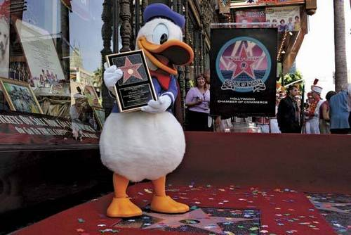 Donald con vịt, vịt Getting ngôi sao on Walk of Fame