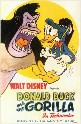 Donald pato and the Gorilla Poster