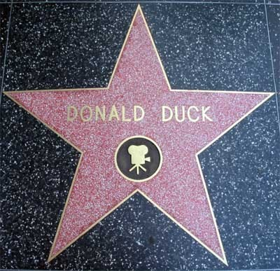 Donald Duck's ngôi sao on the Walk of Fame