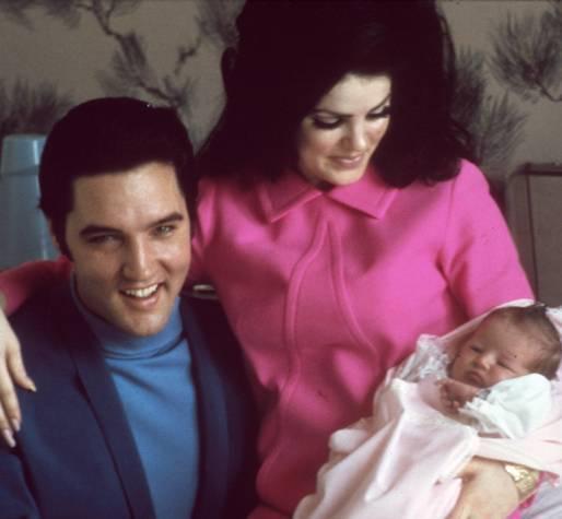 Elvis , Priscilla & Lisa Marie