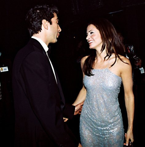 Ross and Monica Geller achtergrond containing a bridesmaid titled F*R*I*E*N*D*S