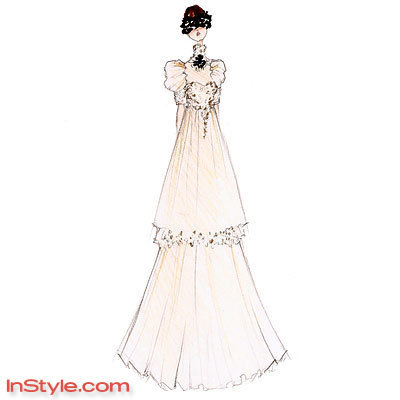 Fashion Designers Sketch Bella's Wedding Dress for InStyle Magazine