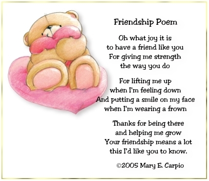 Friendship poem poetry fan art