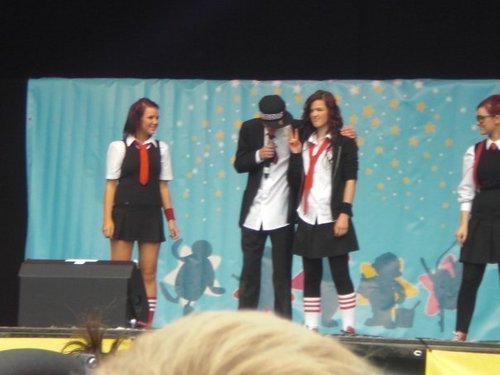 George and his sisters at Butlins