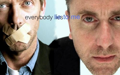 Graphics Contest / Round 31 / CrossOver Обои / House MD + Lie To Me
