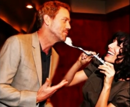 Hugh and Lisa at House's 100th episode party
