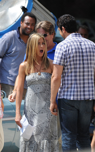 Jennifer on Set of The Bounty