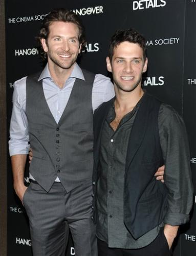 Justin Bartha with Bradley Cooper