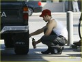 Kellan Lutz is a Flat Tire Fixer - twilight-series photo