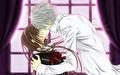 किस Yuuki and Zero
