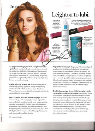 "Leighton Meester in polish magazine ""InStyle"""
