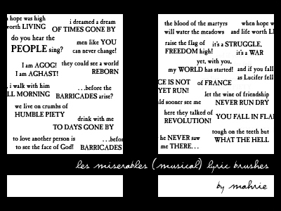 Les Miserables Musical Quotes