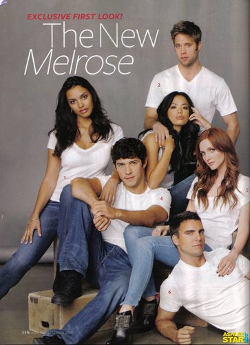 Melrose Place wallpaper probably with a sign called Melrose Place InStyle scan