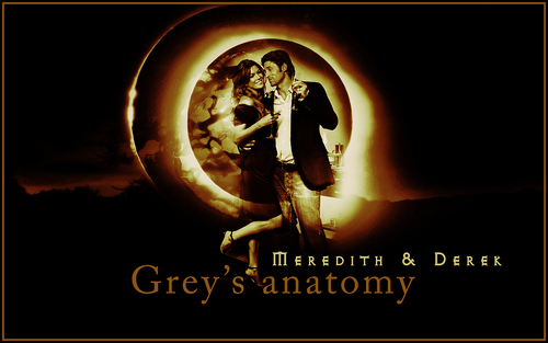Grey's Anatomy wallpaper probably with anime entitled Meredith & Derek