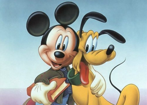 Disney wallpaper titled Mickey and Pluto