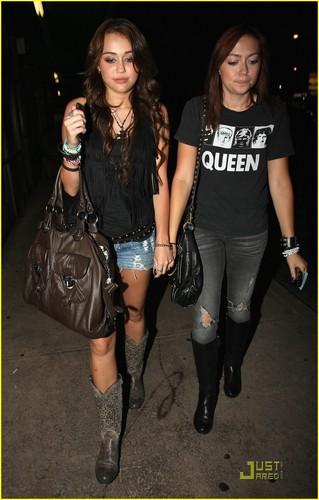 Miley & Brandi Cyrus: Katsuya Cuties