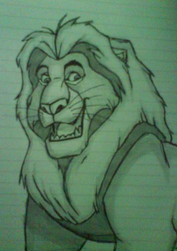 My Drawing of Mufasa