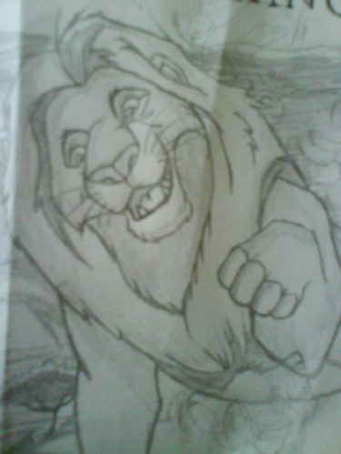 My drawing of Mufasa