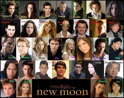 New Moon Cast Список
