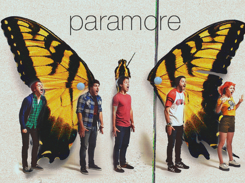 Brand New Eyes wallpaper probably containing a sign titled Paramore