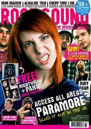 パラモア in magazine covers