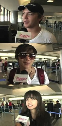 Radaronline interview tawilight humans at airport (on their way to Vancouver)
