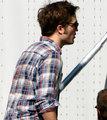 Robert Pattinson Heads to Hair and Makeup - twilight-series photo