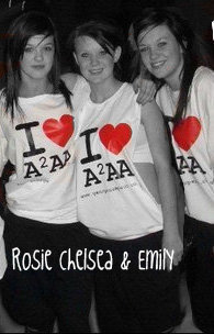 Rosie, Chelsea and Emily