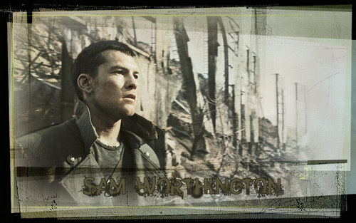 Sam Worthington wallpaper with a sign titled Sam Worthington Wallpaper