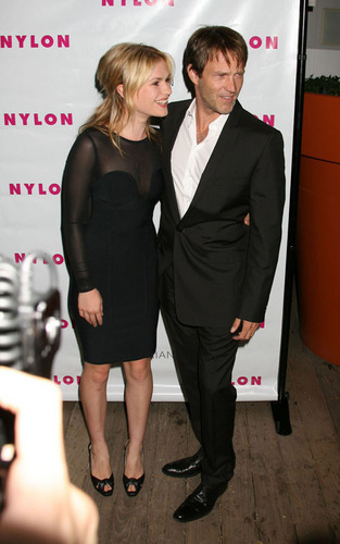 Stephen Moyer and Anna Paquin at the Nylon party