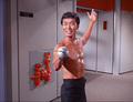 Sulu - The Naked Time (episode 1x04) - sulu-and-chekov screencap