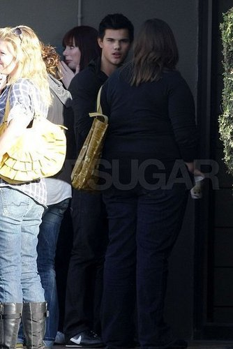 Taylor with co-stars in vancouver