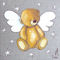 Teddy menanggung, bear Angel for Karen