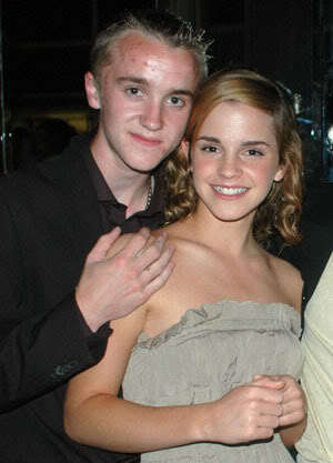 tom felton and emma watson kissing. emma watson and rupert grint