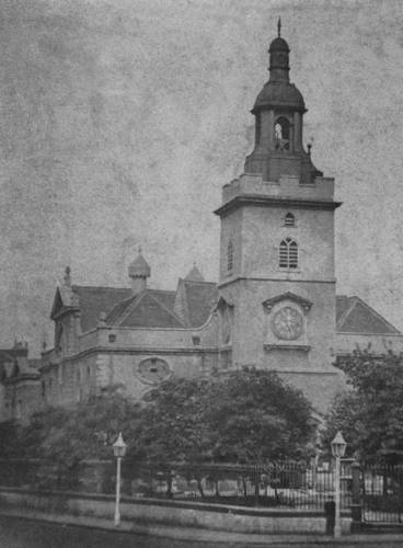 Whitechapel High rua 1870, St Marys Church