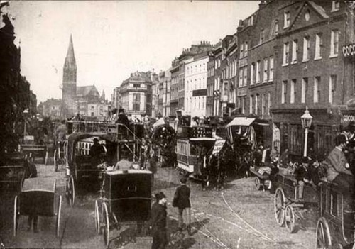 Whitechapel High jalan, street 1890s
