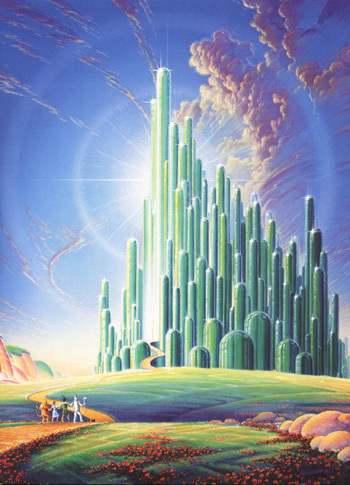 The Wizard of Oz wallpaper entitled The Emerald City