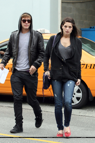 Xavier and Ashley Greene out on the town