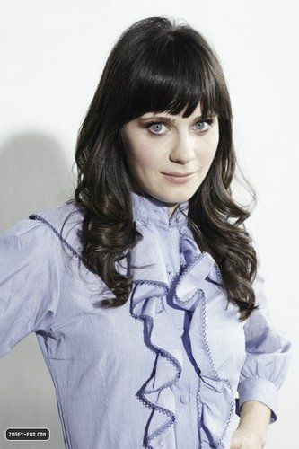 Zooey Deschanel wallpaper probably with a portrait called Zooey