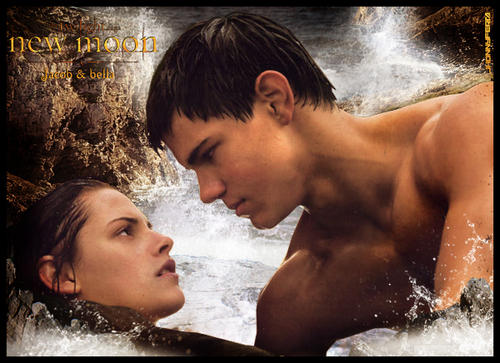 Taylor Lautner wallpaper with a hot tub entitled bella & jacob